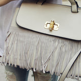 Honey Hush Fringe Tote in Cream: Alternate View #3