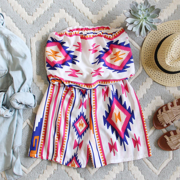 The Jackson Romper in White: Featured Product Image