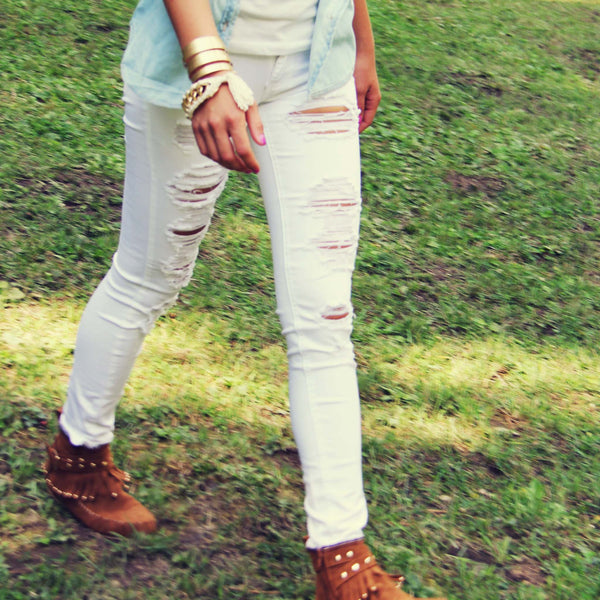 The Joey Destructed Skinny Jean: Featured Product Image