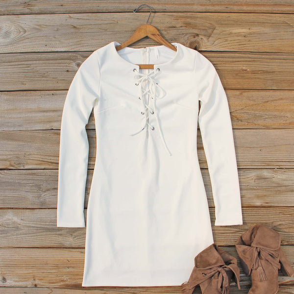 Luner Lace-up Dress: Featured Product Image