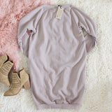 The Lace-up Sweatshirt Dress in Taupe: Alternate View #4