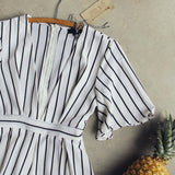 Lexi Stripe Romper: Alternate View #2