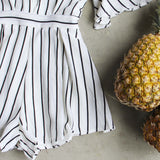 Lexi Stripe Romper: Alternate View #3
