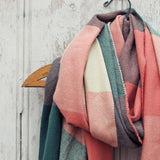 The Lodge Plaid Scarf in Peach: Alternate View #2