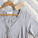 Lola T-Shirt Tunic Dress in Gray: Alternate View #2