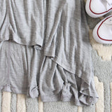 Lola T-Shirt Tunic Dress in Gray: Alternate View #3
