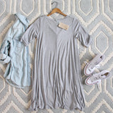 Lola T-Shirt Tunic Dress in Gray: Alternate View #4