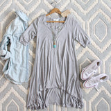 Lola T-Shirt Tunic Dress in Gray: Alternate View #1