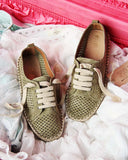 The London Sneaker Espadrille in Sage: Alternate View #1