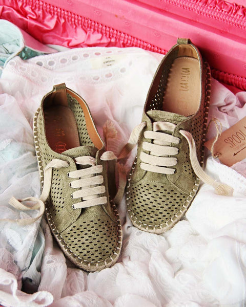 The London Sneaker Espadrille in Sage: Featured Product Image