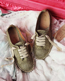 The London Sneaker Espadrille in Sage: Alternate View #3