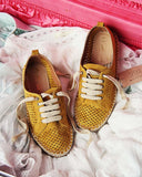 The London Sneaker Espadrille in Mustard: Alternate View #1