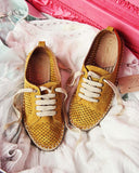 The London Sneaker Espadrille in Mustard: Alternate View #2