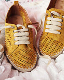 The London Sneaker Espadrille in Mustard: Alternate View #3