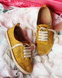 The London Sneaker Espadrille in Mustard: Alternate View #4