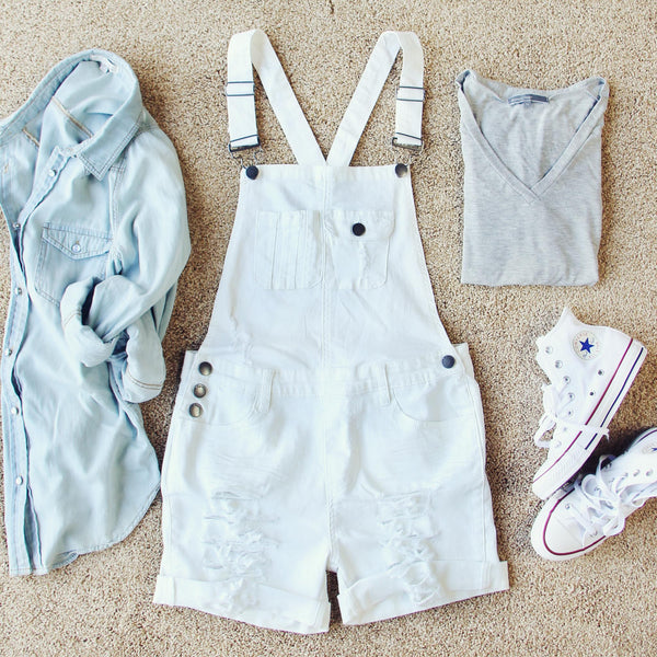Maggie Distressed Overalls: Featured Product Image
