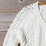 Marlow Lace Fisherman's Sweater in Cream: Alternate View #2