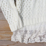 Marlow Lace Fisherman's Sweater in Cream: Alternate View #3