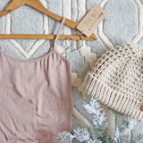 The Mercer Basic Tank Dress in Taupe: Alternate View #2
