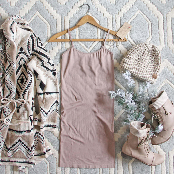 The Mercer Basic Tank Dress in Taupe: Featured Product Image