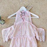 The Mick Lace Romper in Pink: Alternate View #2