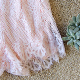 The Mick Lace Romper in Pink: Alternate View #3