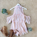 The Mick Lace Romper in Pink: Alternate View #4
