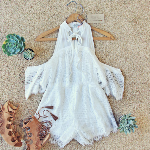 The Mick Lace Romper: Featured Product Image