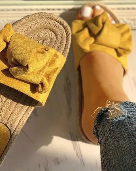 Mimi Slide Sandals in Mustard: Featured Product Image