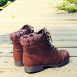 The Mountaineer Sweater Boots in Brown: Alternate View #3