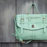 The Nash Tote in Mint: Alternate View #2