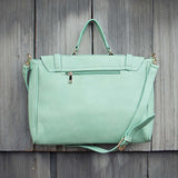 The Nash Tote in Mint: Alternate View #3