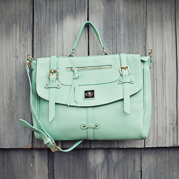 The Nash Tote in Mint: Featured Product Image