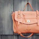 The Nash Tote in Peach: Alternate View #2