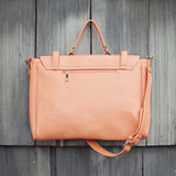 The Nash Tote in Peach: Alternate View #3