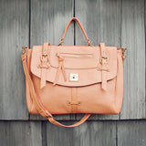 The Nash Tote in Peach: Alternate View #1