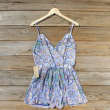The Nile Romper in Blue: Alternate View #4