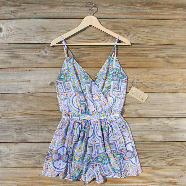 The Nile Romper in Blue: Featured Product Image