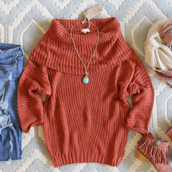 The Nubby Knit Sweater in Rust: Featured Product Image