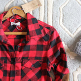 The Patches & Plaid Flannel in Red: Alternate View #2