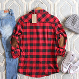 The Patches & Plaid Flannel in Red: Alternate View #4