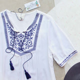 The Roe Embroidered Tunic (wholesale): Alternate View #2