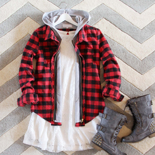 The Seattle Plaid Hoodie: Featured Product Image