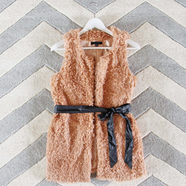 The Teddy Vest in Blush: Featured Product Image