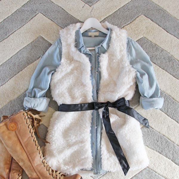 The Teddy Vest in Snow: Featured Product Image