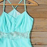 The Sunseeker Dress in Turquoise: Alternate View #2