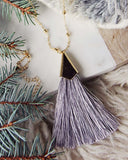 The Tassel Necklace in Gray: Alternate View #2