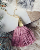 The Tassel Necklace in Pink: Alternate View #2