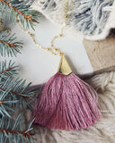 The Tassel Necklace in Pink: Alternate View #1