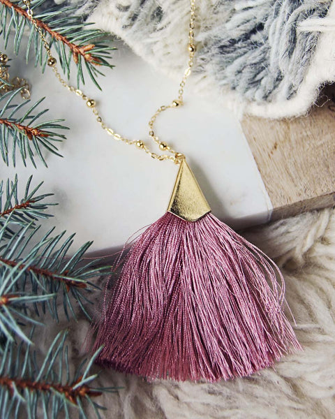 The Tassel Necklace in Pink: Featured Product Image